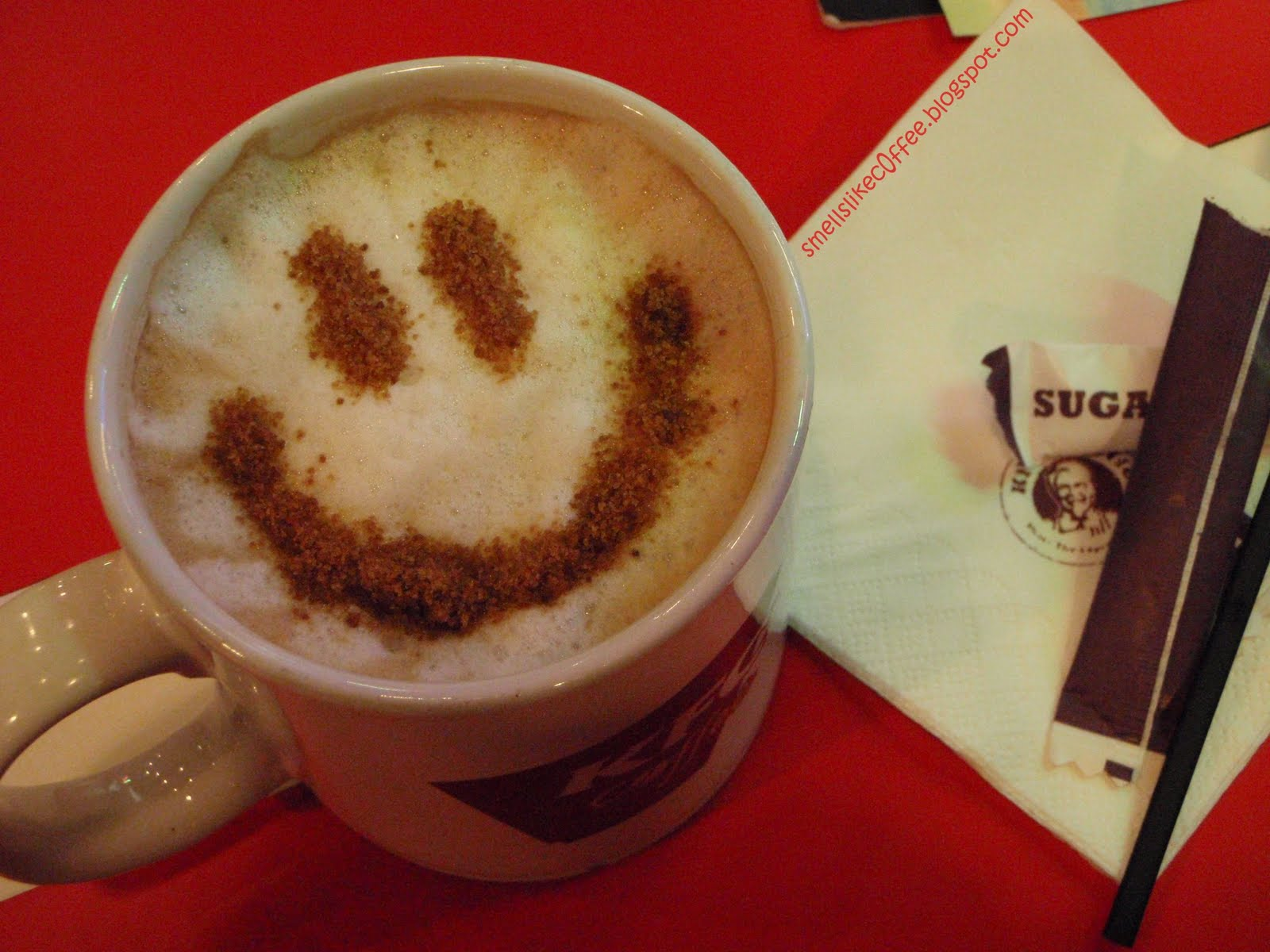 kfc-cappuccino with smile