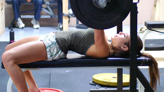 Image result for women's bench press form